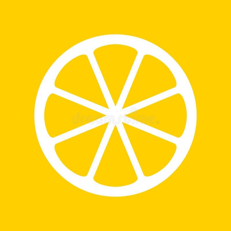 Yellow lemon icon vector illustration