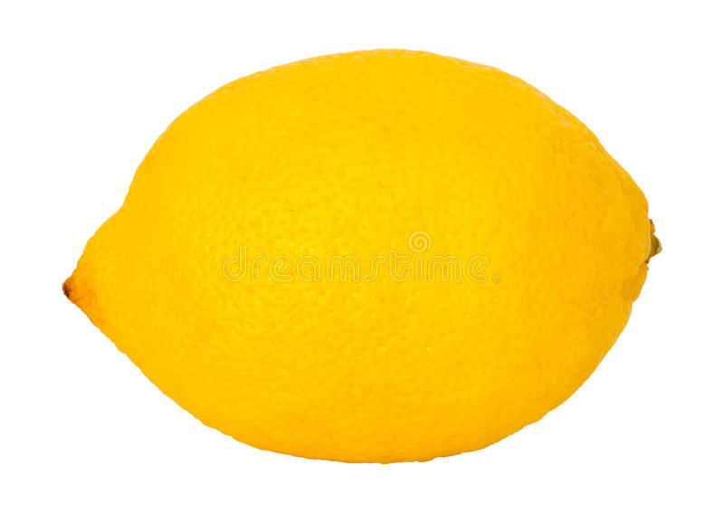 Download Yellow Lemon On A White Background Stock Image - Image: 24301023