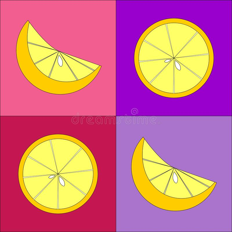 Download Yellow lemons stock illustration. Image of nutritious - 26141122