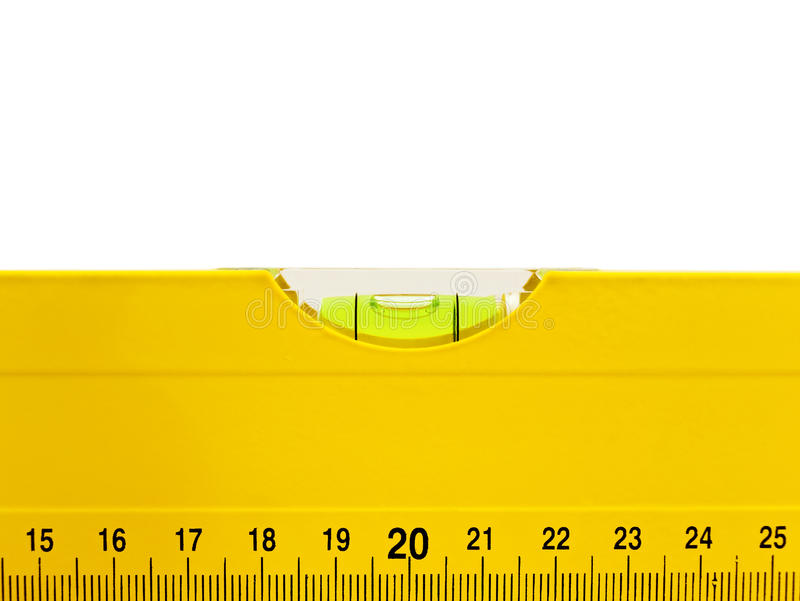 Download Yellow level stock image. Image of straight, instrument - 12922461