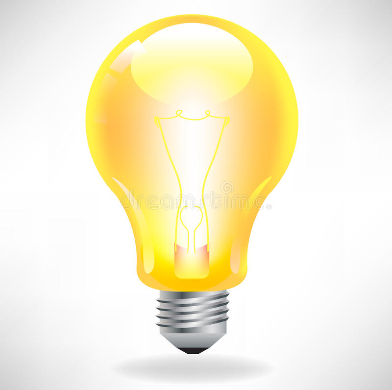 Yellow light bulb vector illustration