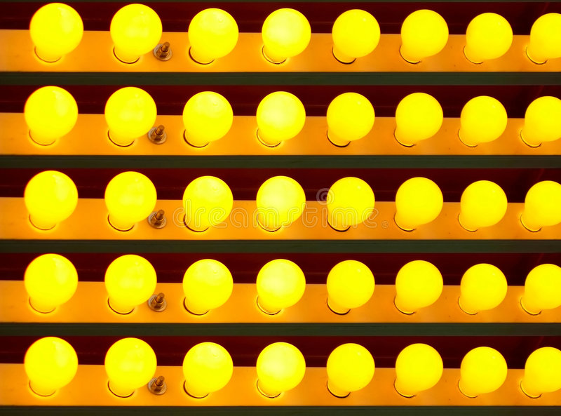 Download Yellow light bulbs stock photo. Image of multiple, colored - 973862