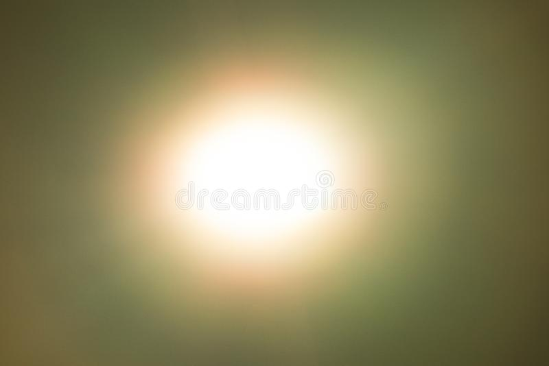 Yellow light flare special effect  on black background , concert lighting.  stock photo