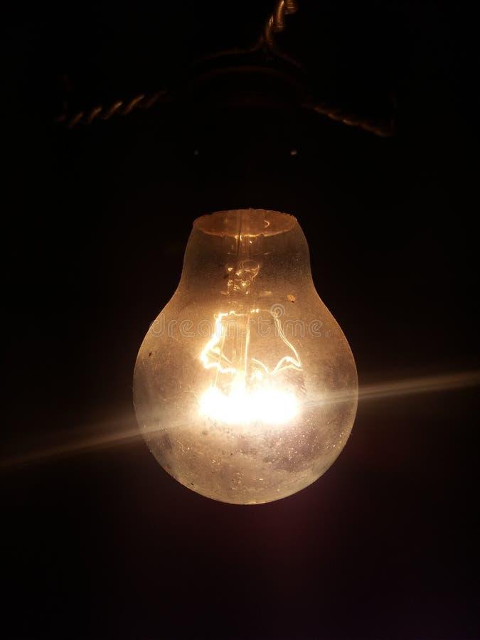 Yellow Lightbulb stock photo