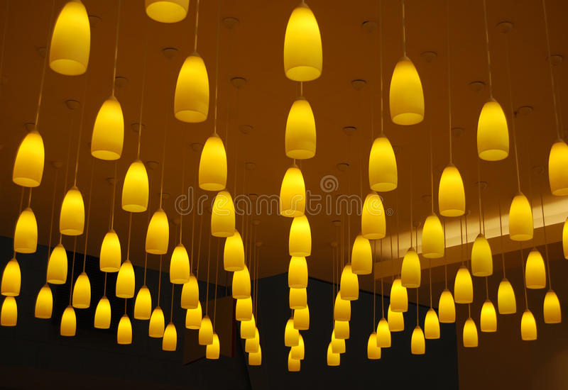yellow lights stock images