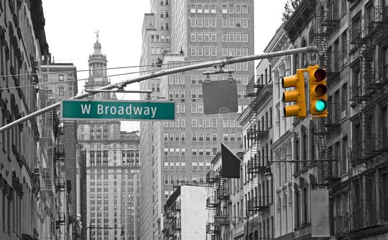 Yellow lights of New york stock image