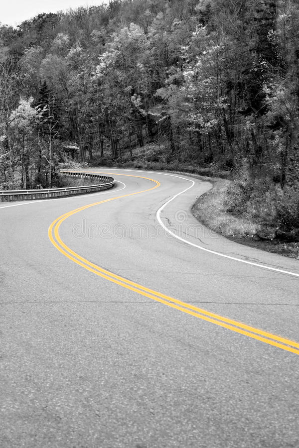 Yellow Line In the Road royalty free stock images