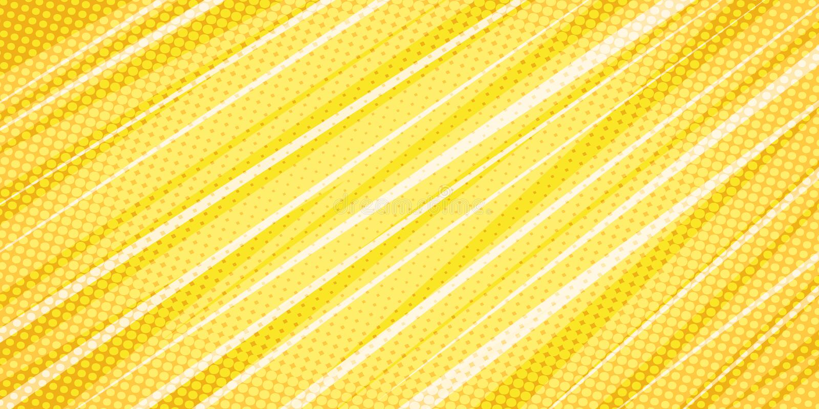 Yellow linear abstract background stock illustration