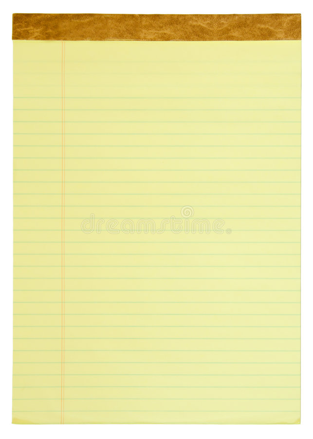 Download Yellow Lined Legal Pad stock photo. Image of text, sheet - 2692958
