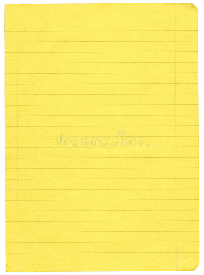 Yellow lined paper royalty free stock image