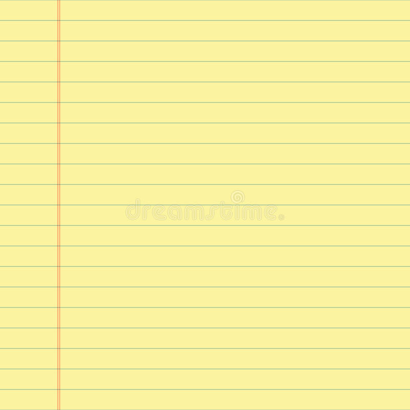 Free Yellow Lined Paper Stock Images - 51330664