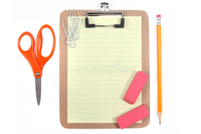 Download Yellow Lined Paper And School Office Supplies Stock Image - Image of note, graphics: 15644947