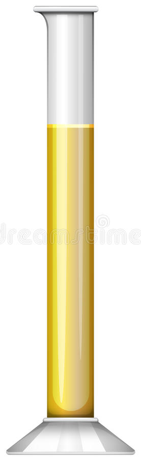 Yellow liquid in test tube royalty free illustration