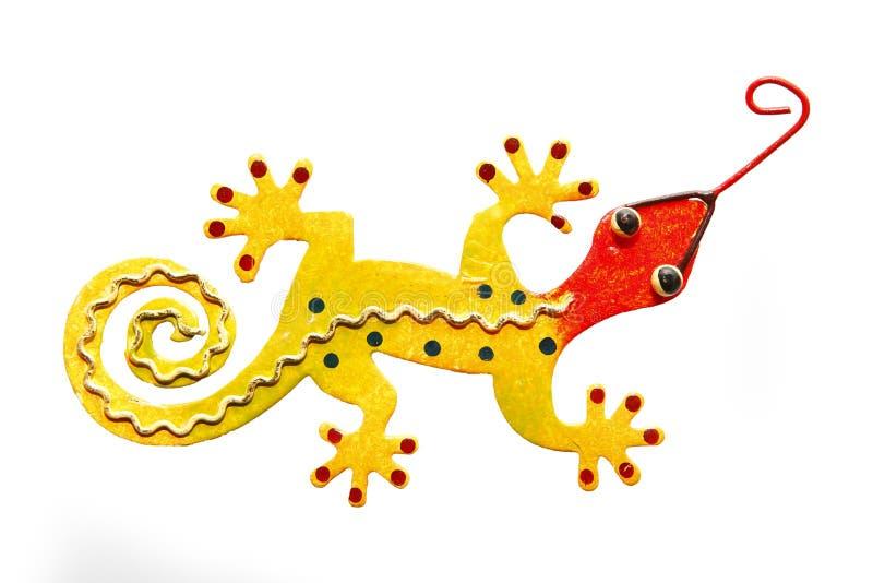 Download Yellow lizard stock photo. Image of iron, wall, decoration - 25204200