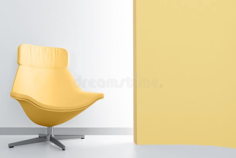 Yellow Luxury Armchair Stock Image