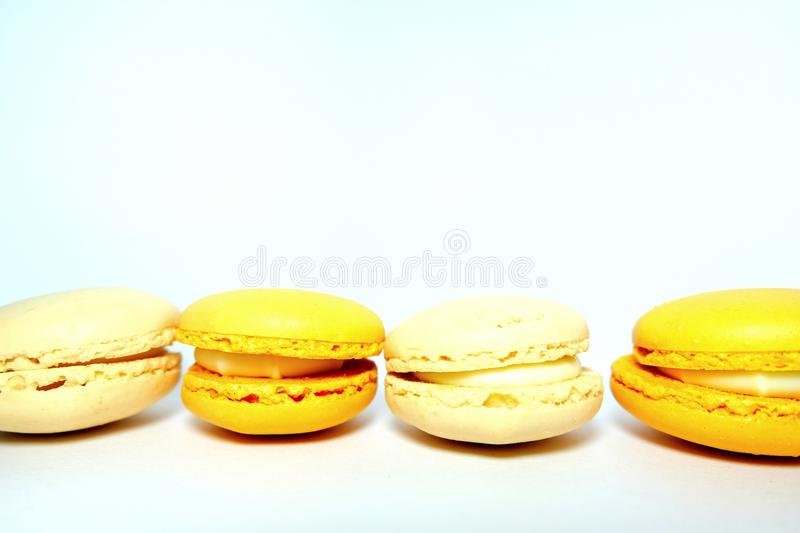 Yellow Macaroons royalty free stock photography