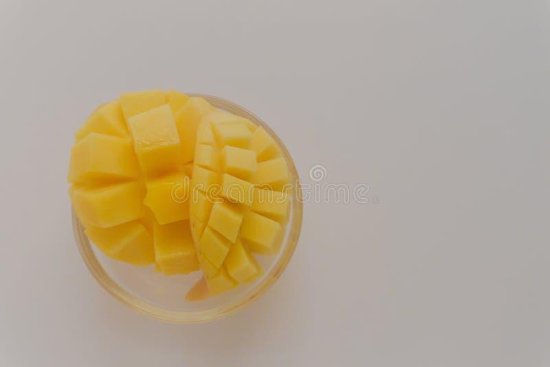 Yellow mango fruit on a white background.  stock images