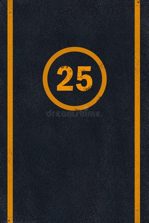 Download Yellow Marking On Black Asphalt Stock Illustration - Illustration of roadside, traffic: 6546729