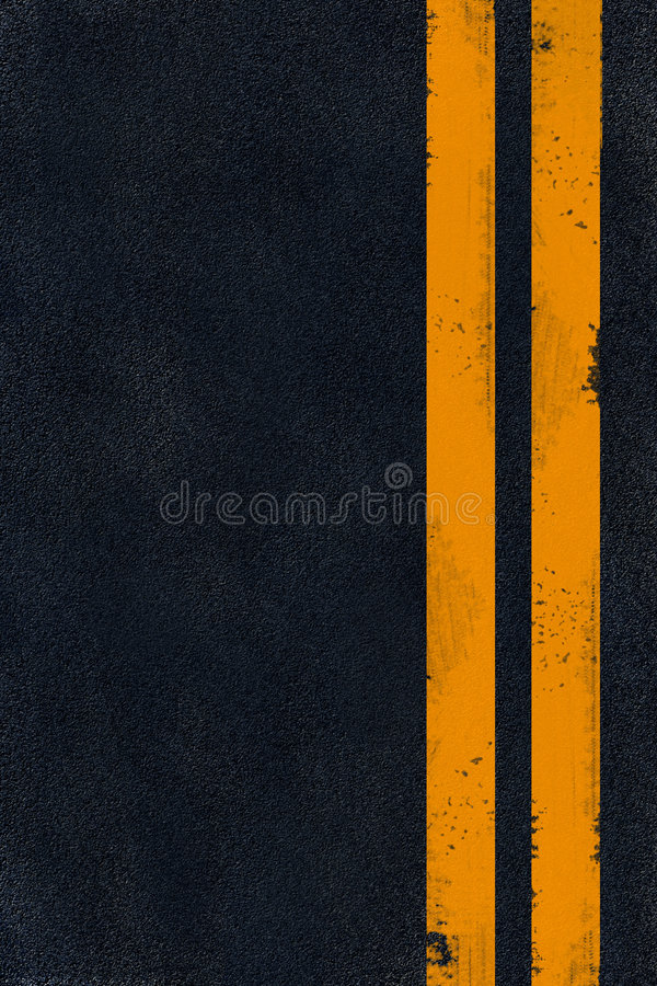 Free Yellow Marking On Black Asphalt Royalty Free Stock Photos - 6546518
