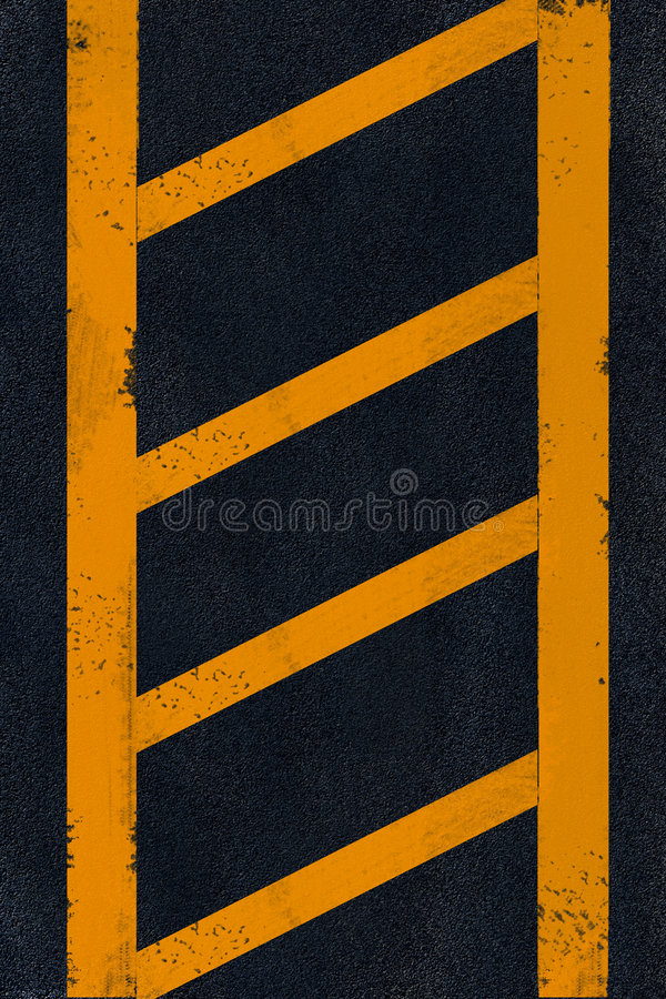 Free Yellow Marking On Black Asphalt Stock Photography - 6546582