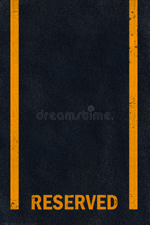 Free Yellow Marking On Black Asphalt Stock Images - 6546614