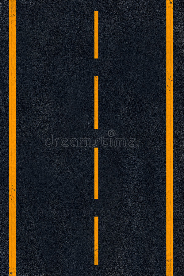 Free Yellow Marking On Black Asphalt Royalty Free Stock Photos - 6546708