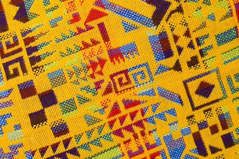 Yellow Mayan Pattern stock photo