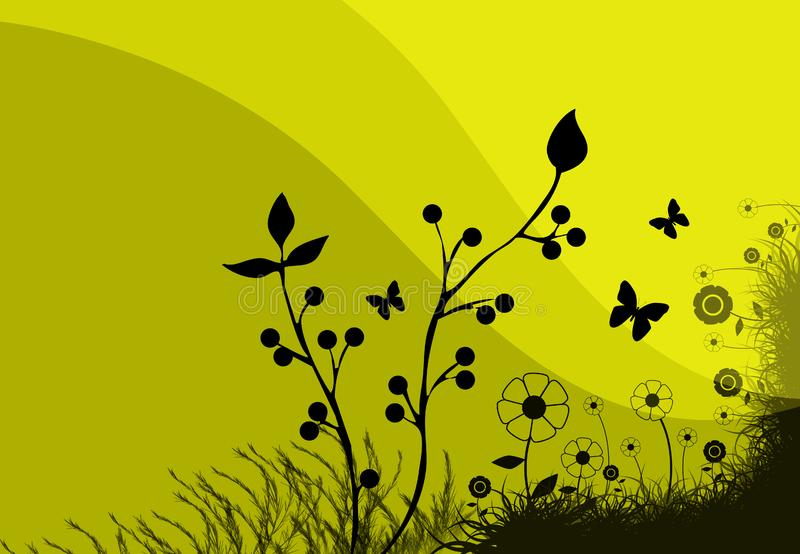Yellow Meadow Illustration Free Stock Photo