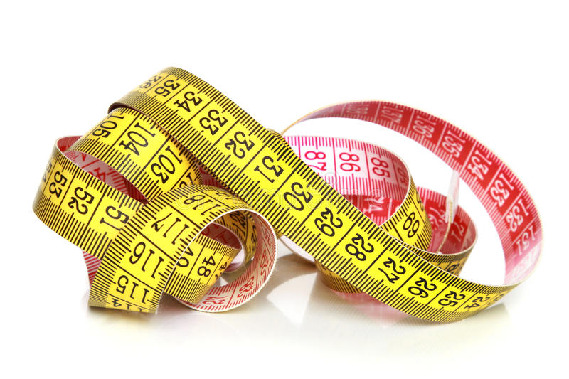 Download Yellow measuring tape stock image. Image of precise, precision - 16770575