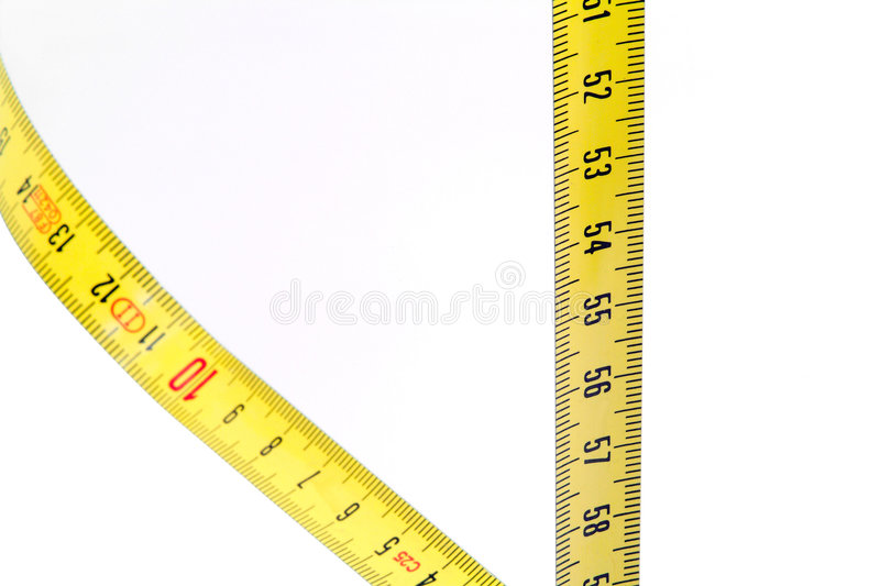 Download Yellow measuring tape stock photo. Image of centimeter - 504082