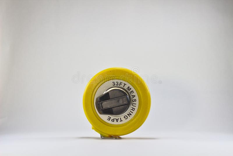 Yellow measuring tape 3156 stock images