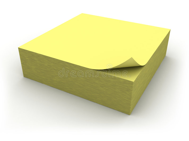 Download Yellow memo stick stock illustration. Image of announcement - 8536167