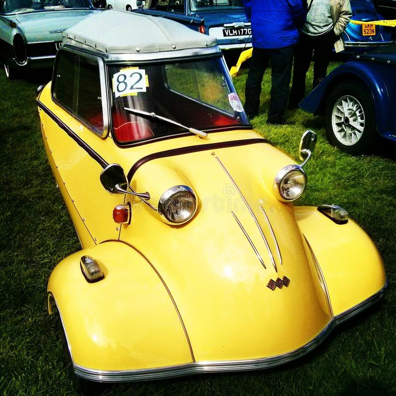 Yellow Messerschmitt royalty free stock photography