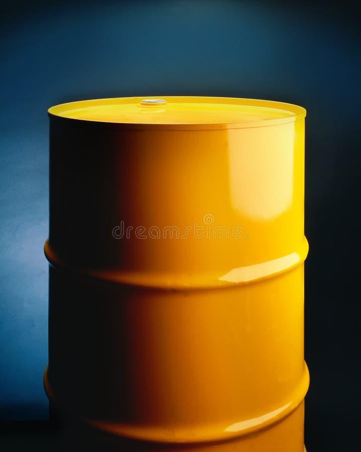 Download Yellow Metal Barrel stock image. Image of storage, industry - 7293411