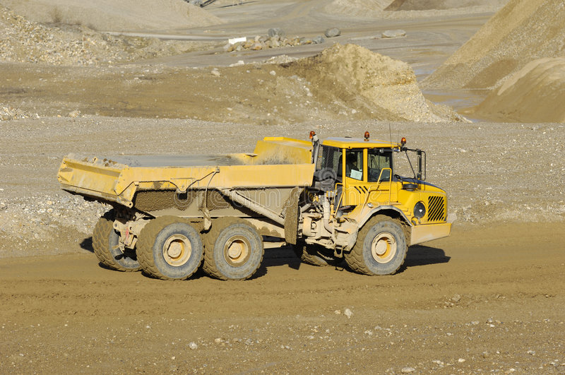 Yellow Mining Dump Truck Royalty Free Stock Photography