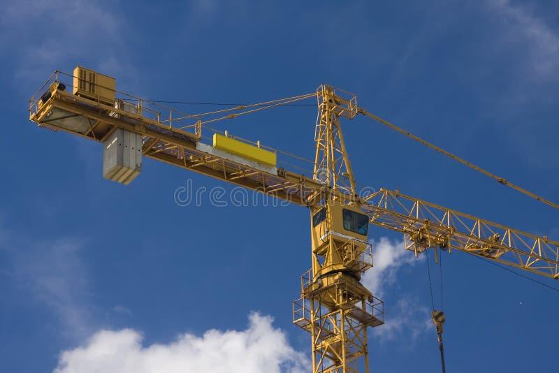 Yellow mobile crane royalty free stock image