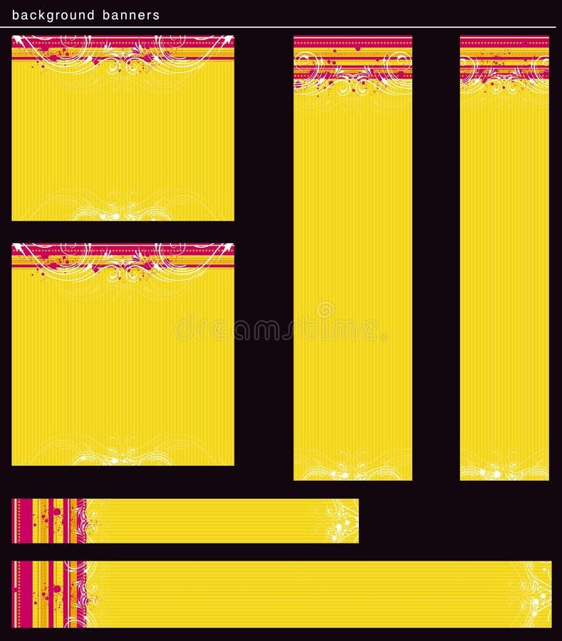 Yellow modern banners, vector vector illustration