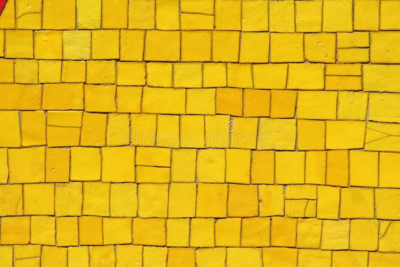 Yellow mosaic royalty free stock photography