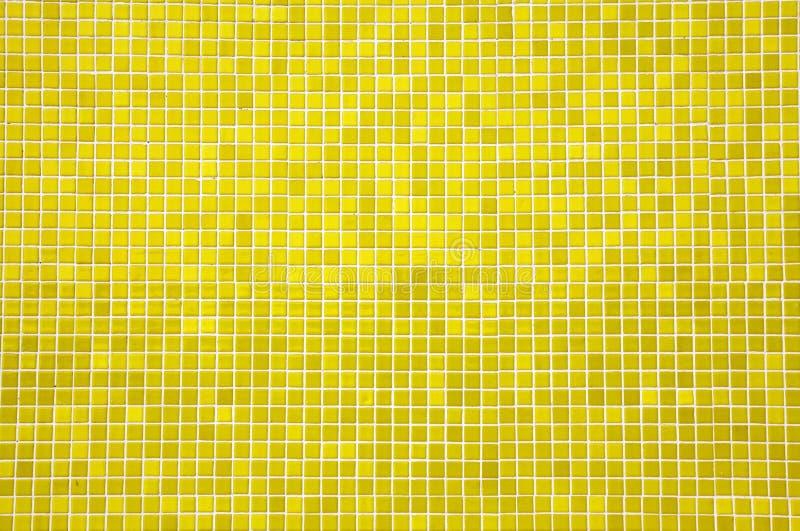 Yellow mosaic tiles stock photography