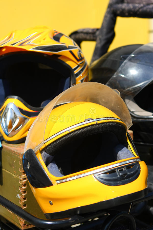 Download Yellow motobike helmet stock photo. Image of sport, safe - 22726444