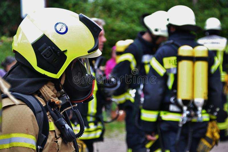 Yellow, Motor Vehicle, Personal Protective Equipment, Firefighter royalty free stock photos