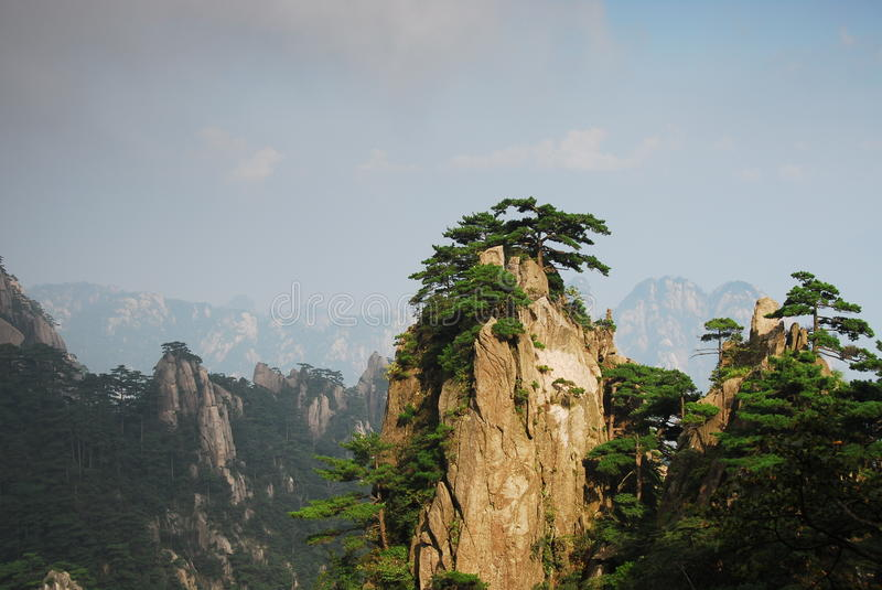 Yellow Mountain. In Anhui, China stock images