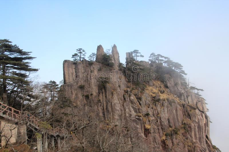 Yellow Mountain - Huangshan, China. royalty free stock photos