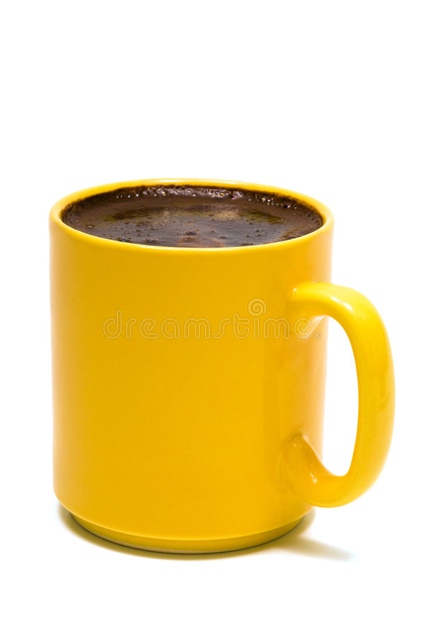 Free Yellow Mug From Coffee Royalty Free Stock Images - 6313659