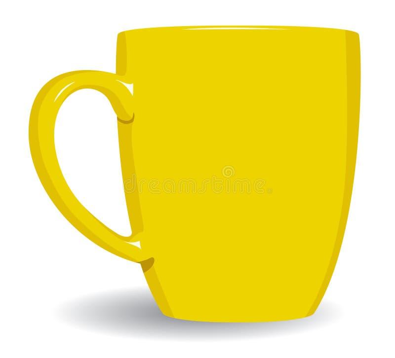 Free Yellow Mug On White. Stock Images - 5126174