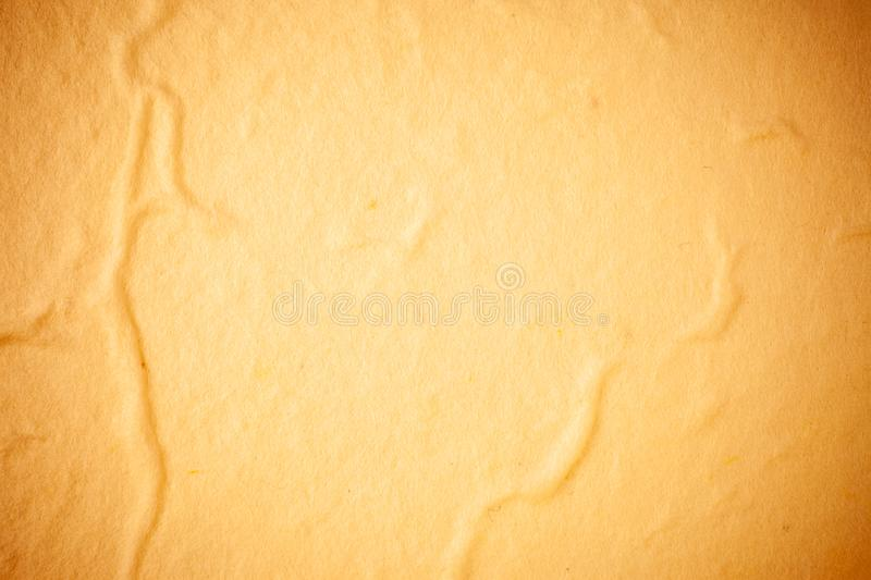 Yellow Mulberry paper background. Abstract, aged, antique, art, beautiful, beauty, blank, brown, cards, color, craft, crumpled, crunch, decorative, design stock image