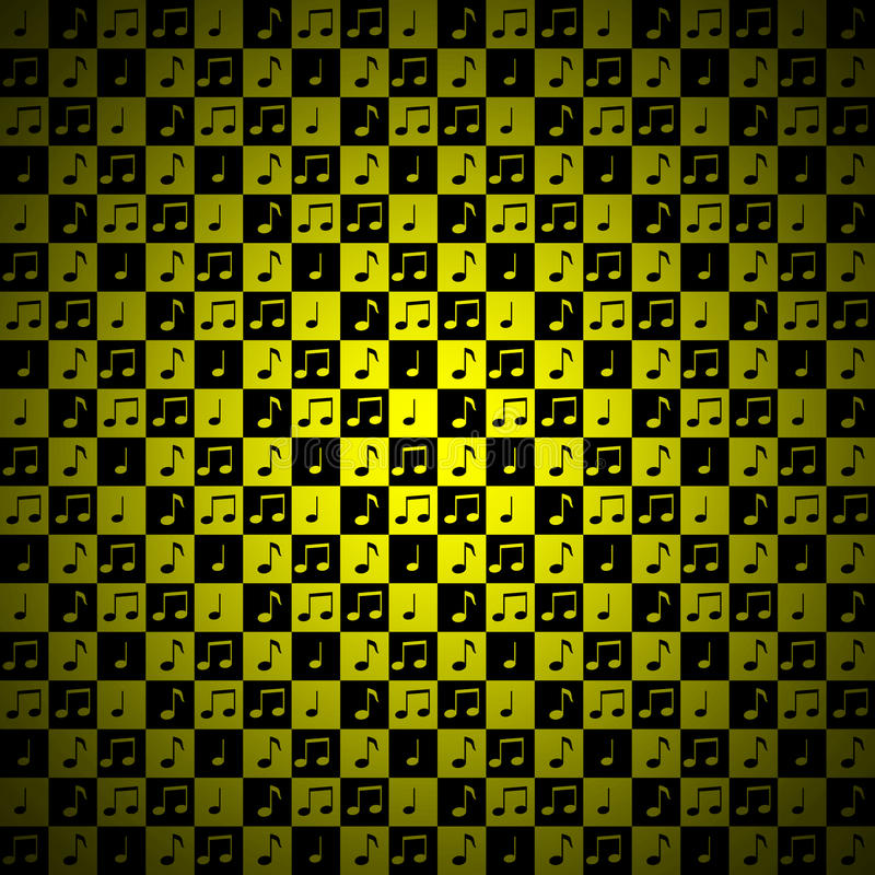 Download Yellow Music Note Background Stock Illustration - Image: 27028559