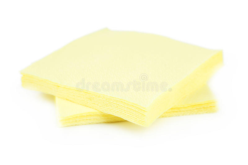 Yellow napkins stock images