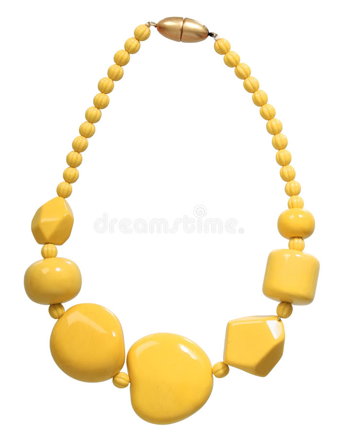 Yellow necklace stock images