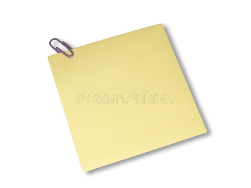 Yellow note royalty free stock photo